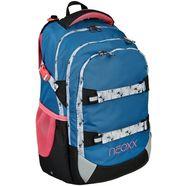 neoxx schoolrugzak active, splash van gerecyclede petflessen blauw