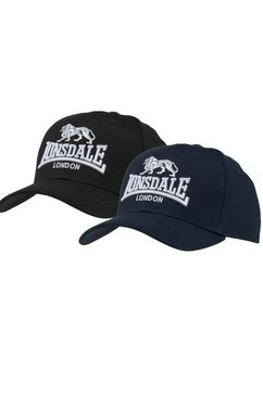 lonsdale baseballcap wiltshire (2 stuks) zwart