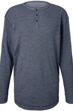 tom tailor denim henleyshirt blauw