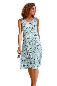 classic basics gedessineerde jurk jurk blauw