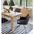 mca furniture eetkamerstoel elara c (set, 2 stuks) grijs