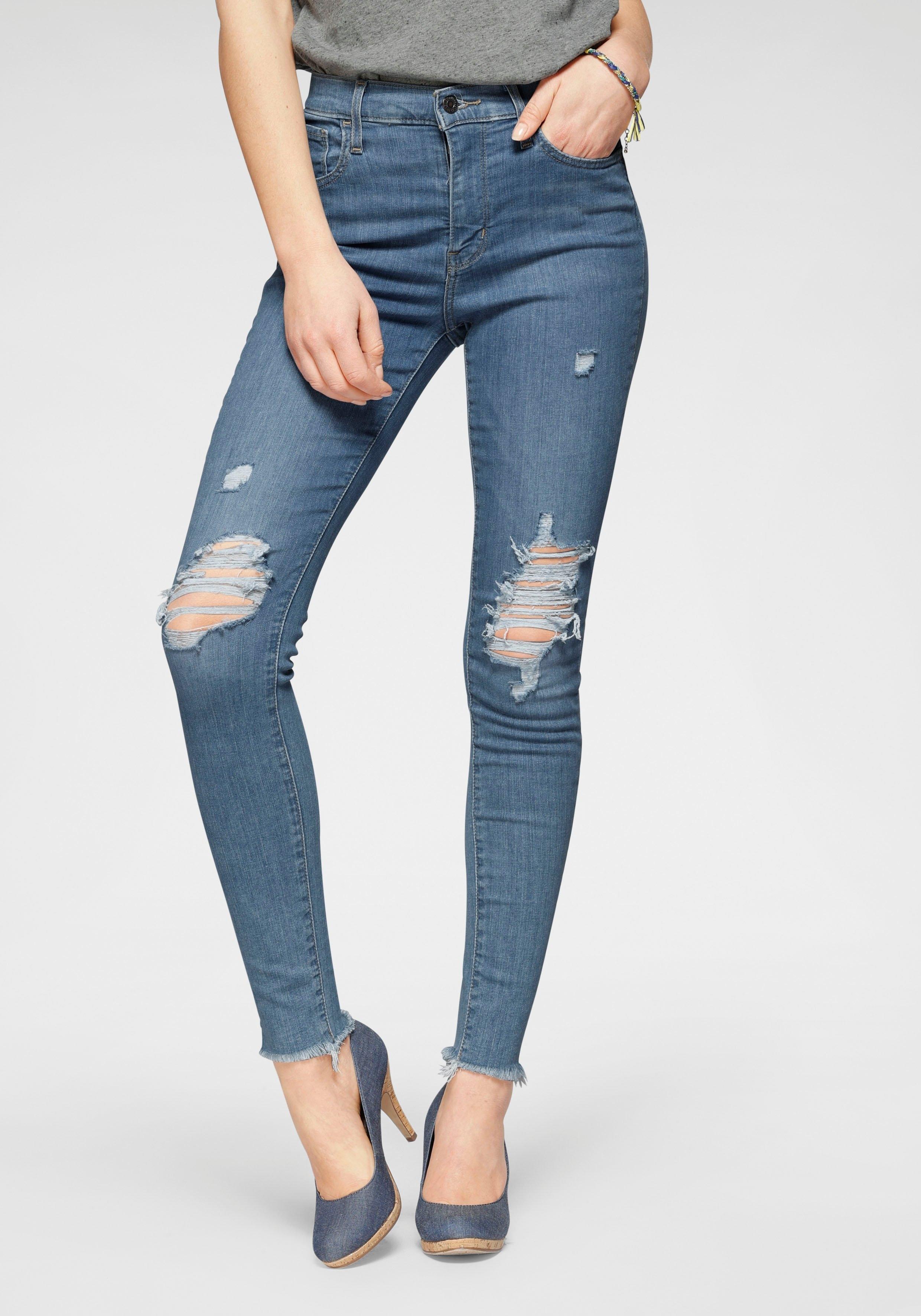 Levi's skinny fit jeans 720 High Rise Super Skinny met destroyed-effecten voordelig en veilig online kopen