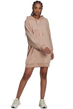 adidas originals shirtjurk hoodie dress bruin