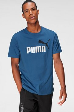 puma t-shirt ess+ 2 col logo tee blauw