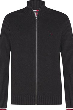 tommy hilfiger vest »bold structure zip through« grijs