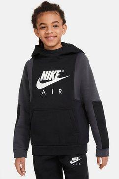 nike sportswear hoodie air big kids (boys) pullover hoodie zwart
