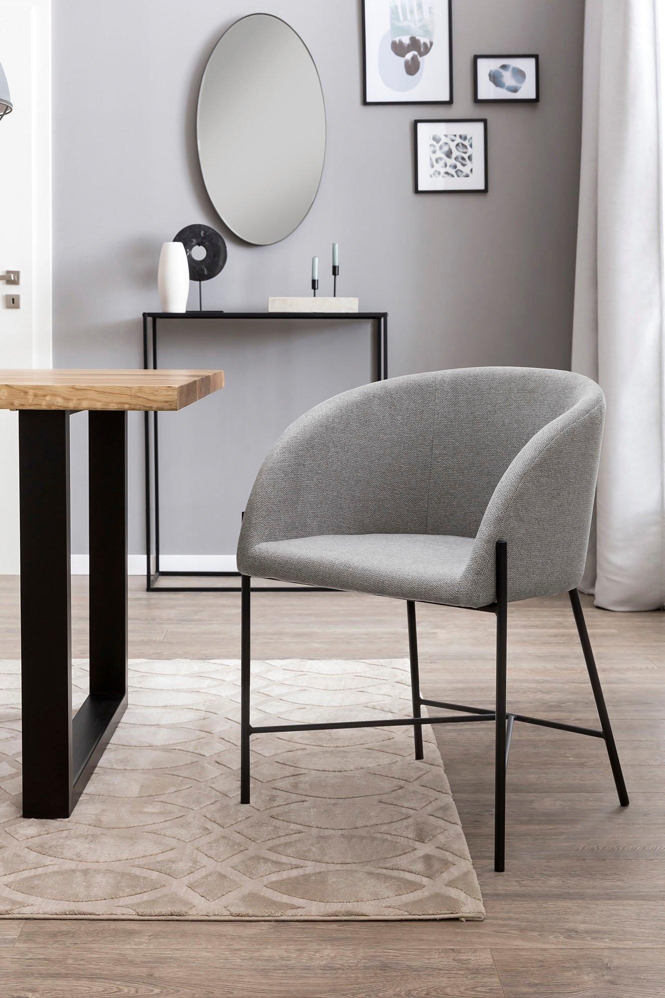 SalesFever eetkamerstoel met matzwart metalen frame nu online bestellen