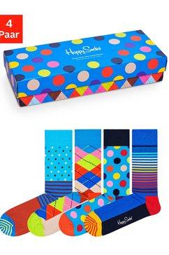 happy socks sokken (box, 4 paar) multicolor