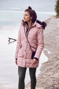 alpenblitz doorgestikte jas »paris« roze