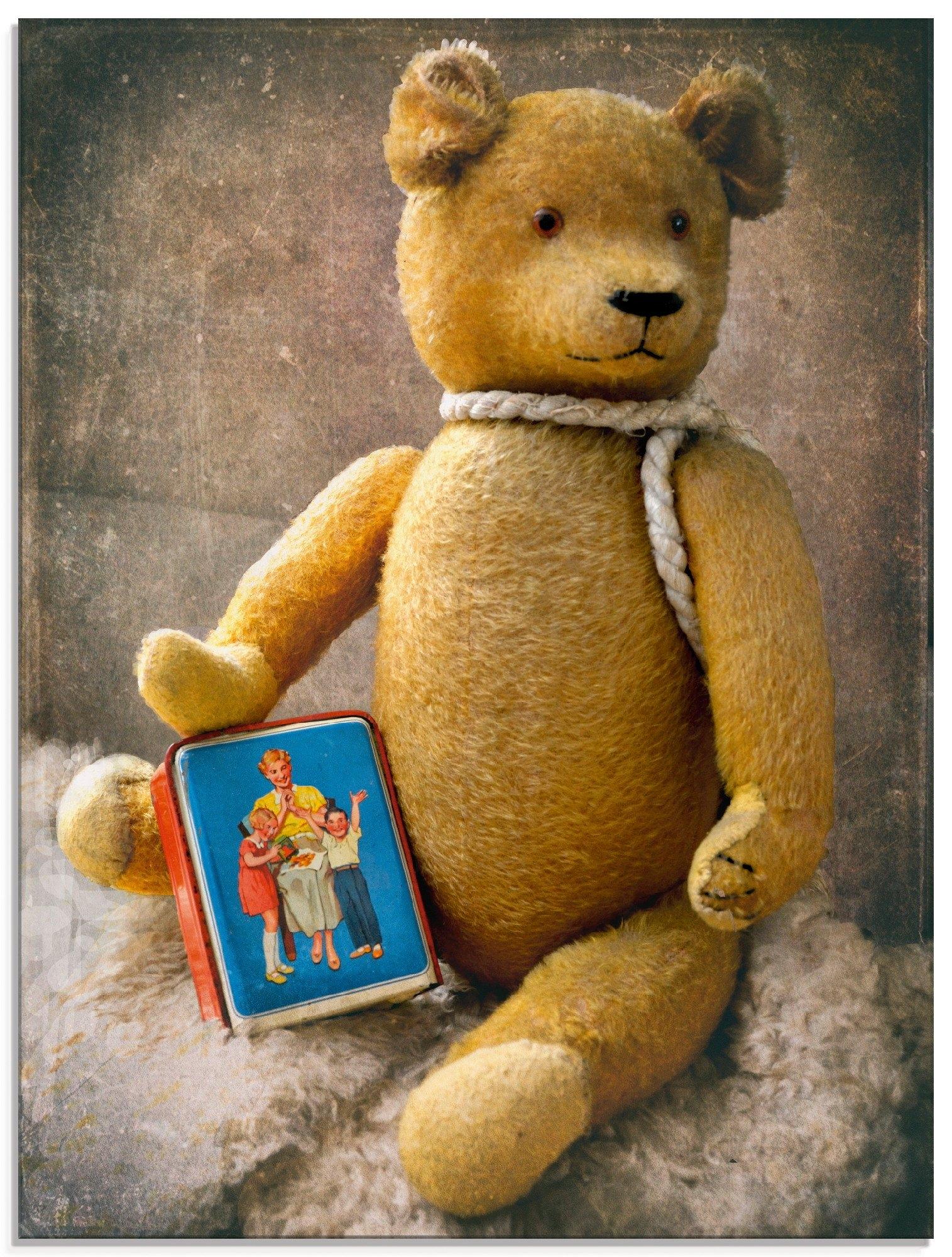 Artland print op glas Teddybeer met spaarpot (1 stuk) nu online bestellen