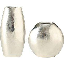 boltze siervaas flaire (set, 2 stuks) zilver