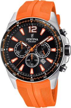 festina chronograaf the originals, f20376-5 oranje