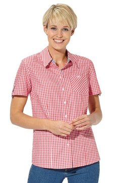 casual looks geruite blouse rood