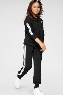 nike sportswear trainingspak trak suit tricot (set, 2-delig) zwart