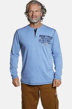 jan vanderstorm shirt met lange mouwen erkki van prettig katoen blauw