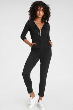 melrose jumpsuit met een ritsdetail - nieuwe collectie zwart