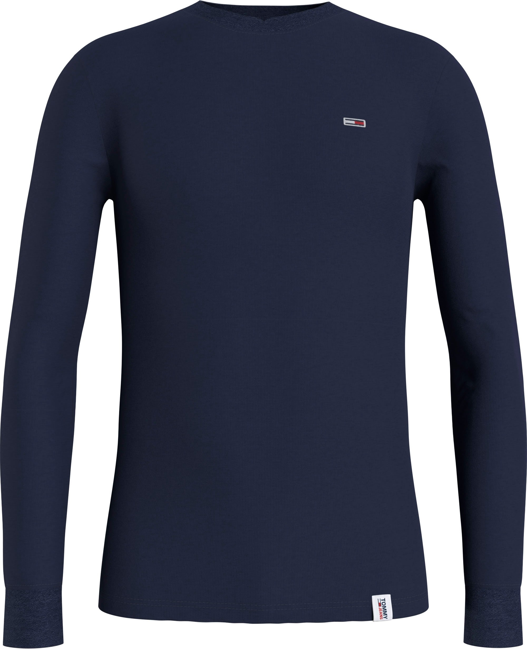 TOMMY JEANS shirt met lange mouwen TJM MINI WAFFLE JASPE LONGSLEEVE voordelig en veilig online kopen