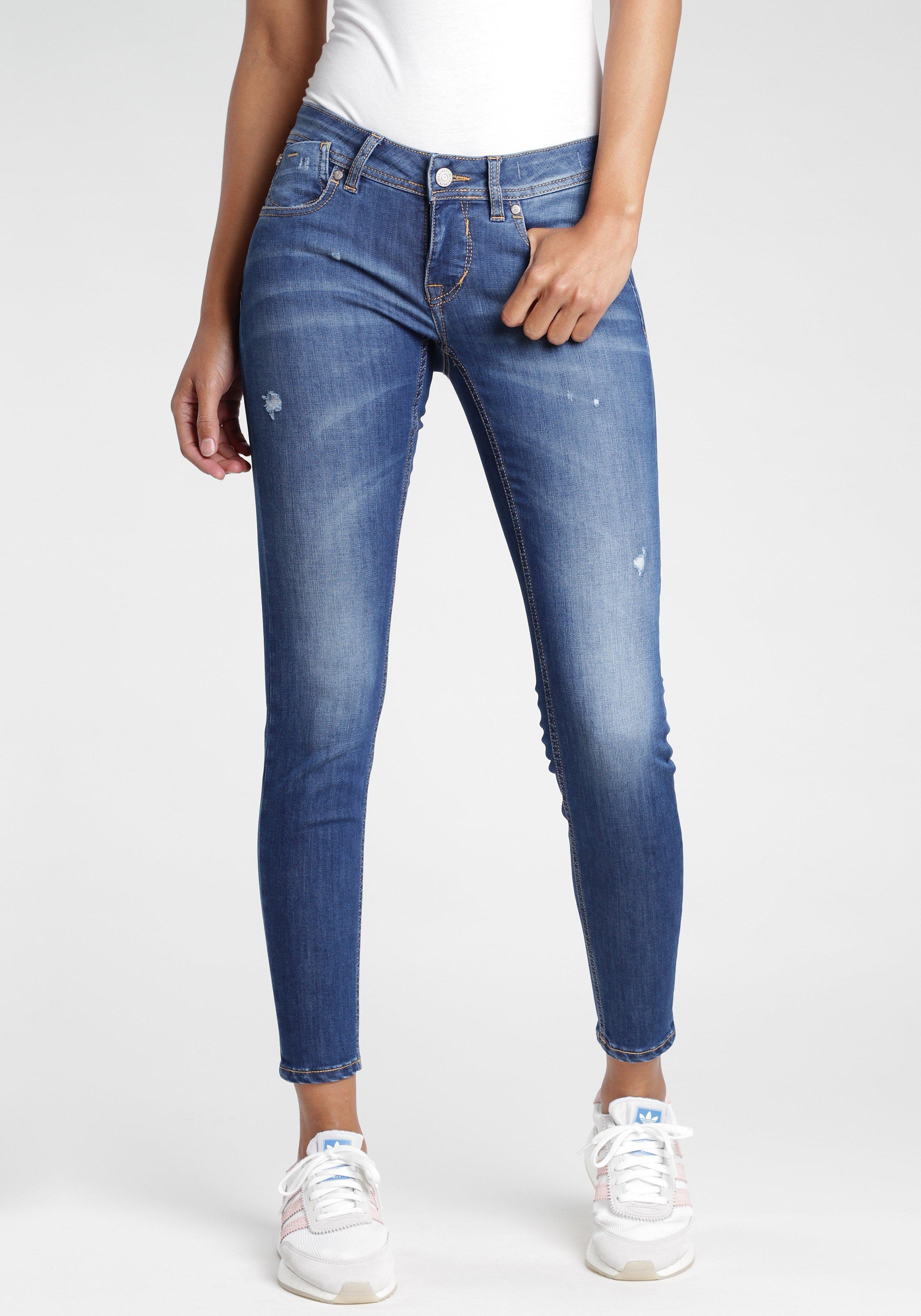 GANG skinny fit jeans met destroyed-effecten nu online kopen bij OTTO