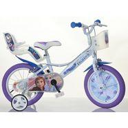 dino kinderfiets voor meisje, 16 inch, 1 versnelling, »frozen« wit