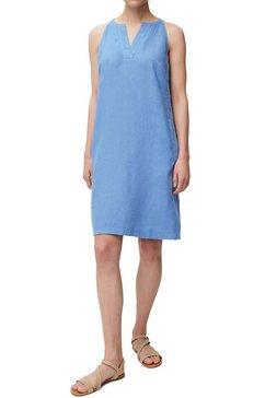 marc o'polo jurk in overgooiermodel met steekzakken blauw