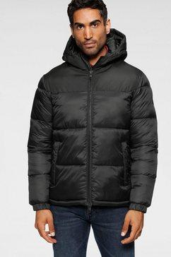 jack  jones gewatteerde jas »drew puffer hood« zwart