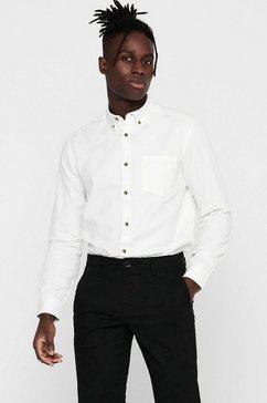 only  sons overhemd met lange mouwen bryce life organic shirt wit