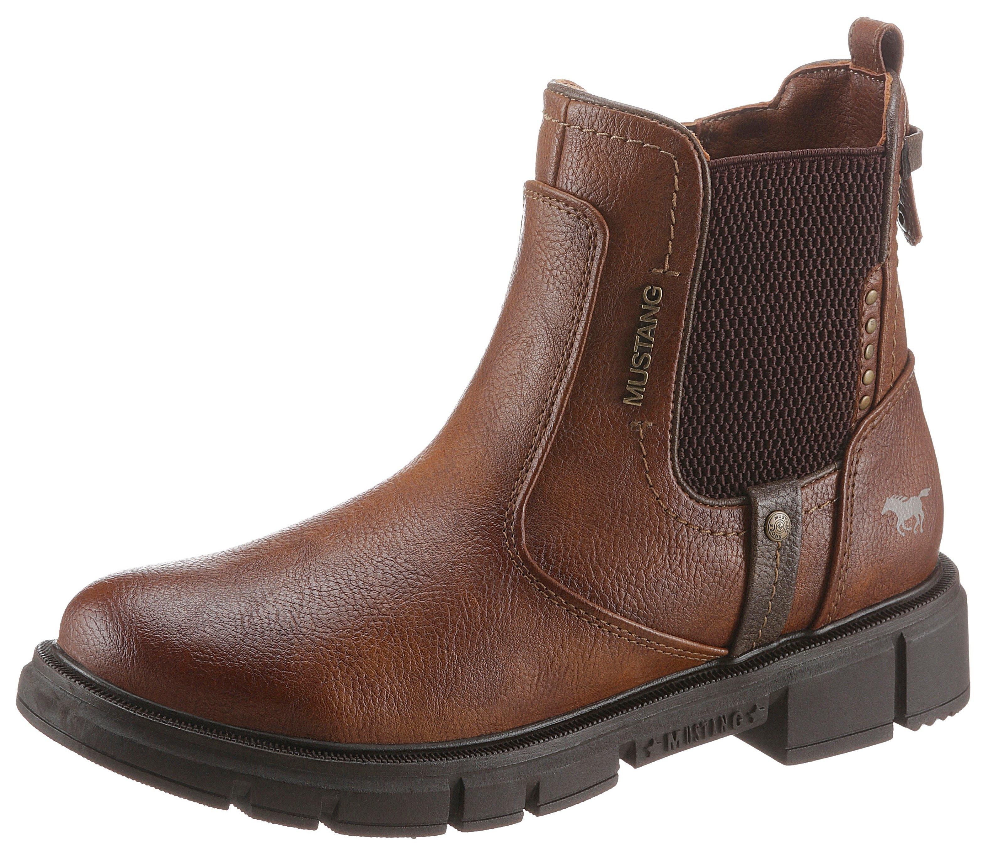 Mustang Shoes Chelsea-boots met stijlvolle studs gegarneerd - verschillende betaalmethodes