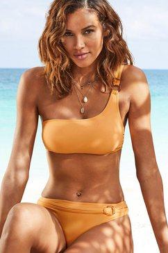 s.oliver red label beachwear bustierbikinitop rome met one-shouldermodel geel