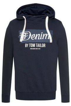 tom tailor denim hoodie blauw