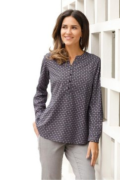 classic basics lange blouse grijs