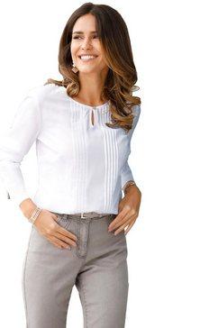 classic basics lange blouse wit