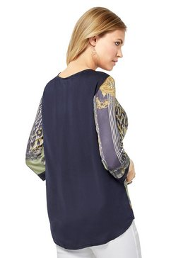 création l blouse in glanzende kwaliteit blauw