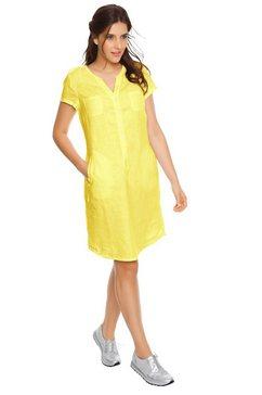 linea tesini by heine zomerjurk linnen jurk geel