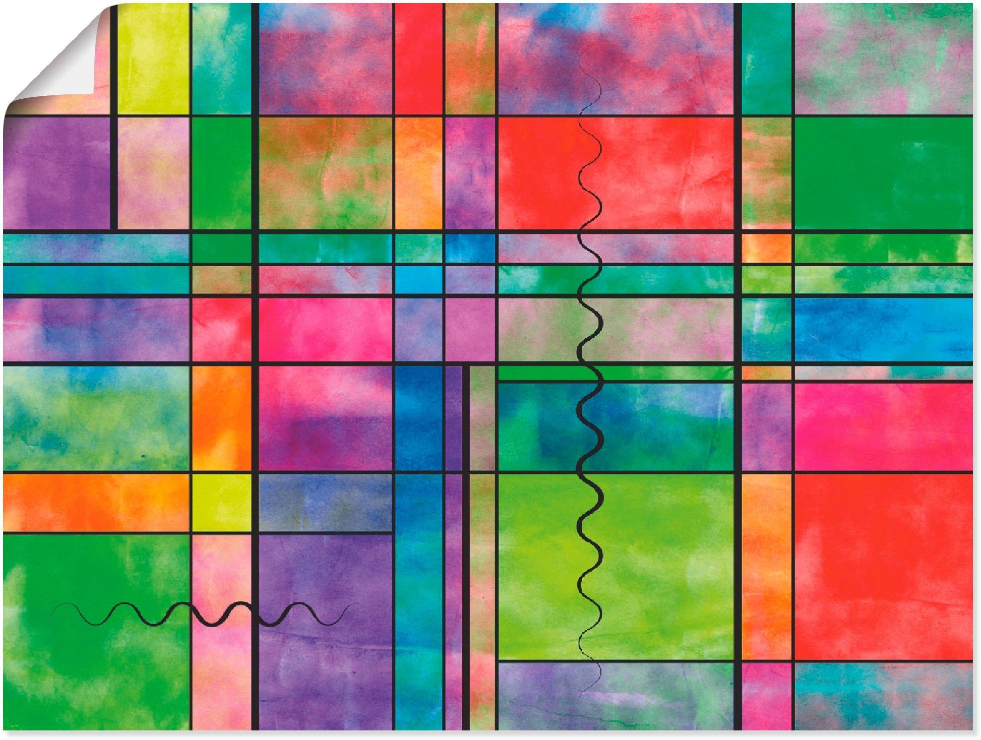 Artland Artprint Multicolour Abstract in vele afmetingen & productsoorten -artprint op linnen, poster, muursticker / wandfolie ook geschikt voor de badkamer (1 stuk) nu online kopen bij OTTO