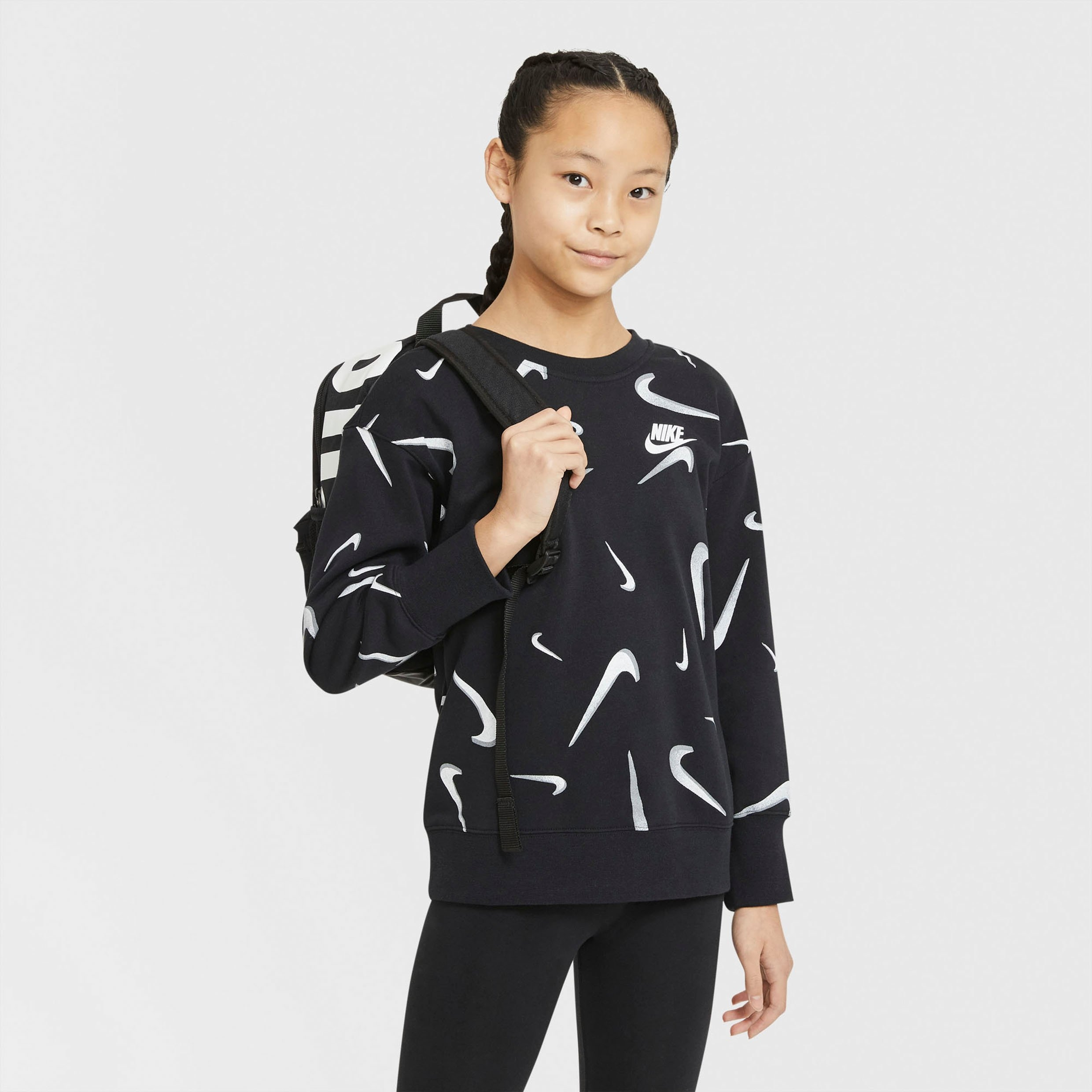 Nike Sportswear Nike sweatshirt »G Nsw Ft Aop Bf Crew Big Kids' (girls')« in de webshop van OTTO kopen