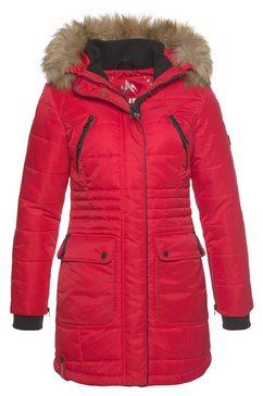 alpenblitz gewatteerde jas »schneeglanz« rood