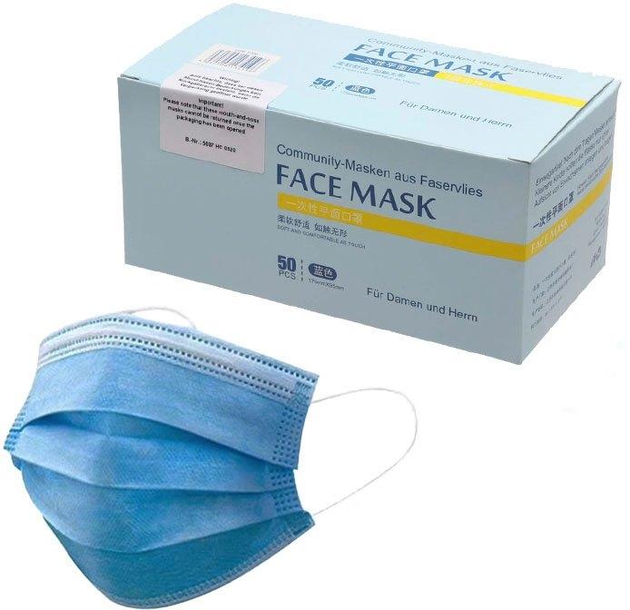 Zwillingsherz mondkapjes Wegwerpmaskers voor volwassenen (set, 50 stuks) bestellen: 30 dagen bedenktijd