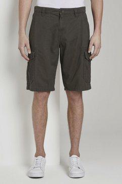 tom tailor bermuda »morris relaxed bermuda cargo-shorts« grijs