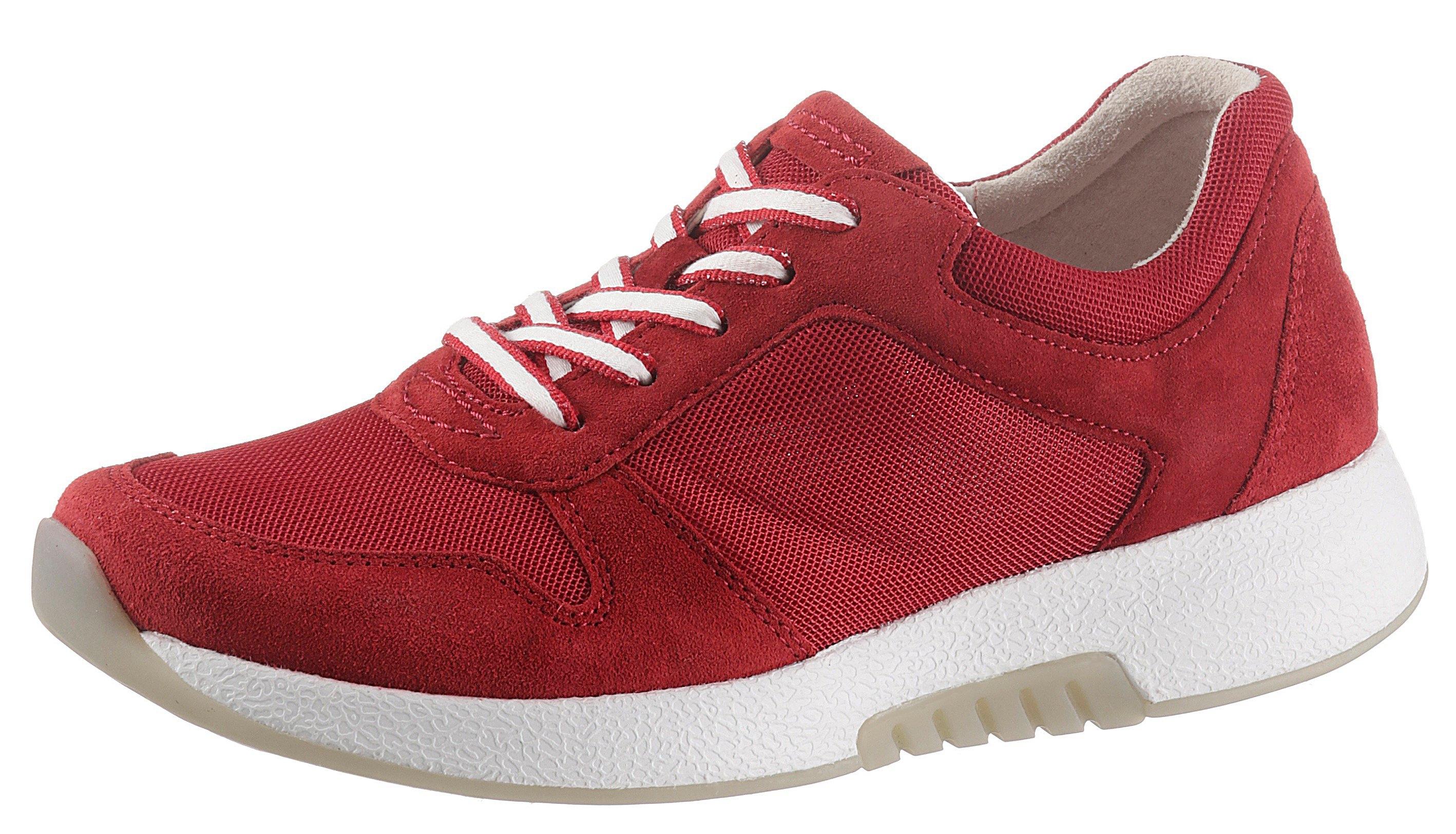 Gabor Rollingsoft sneakers met sleehak in zomerse materialenmix nu online bestellen