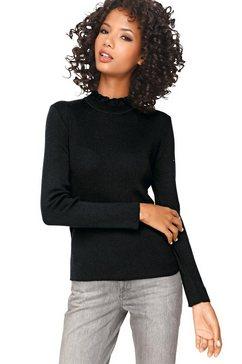 linea tesini by heine trui met staande kraag trui met opstaande kraag zwart