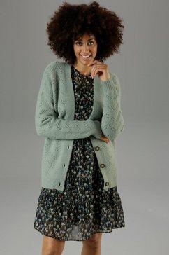 aniston casual vest met ajourmotief - nieuwe collectie groen