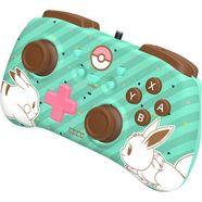 hori controller switch mini controller - pikachu  evoli edition groen