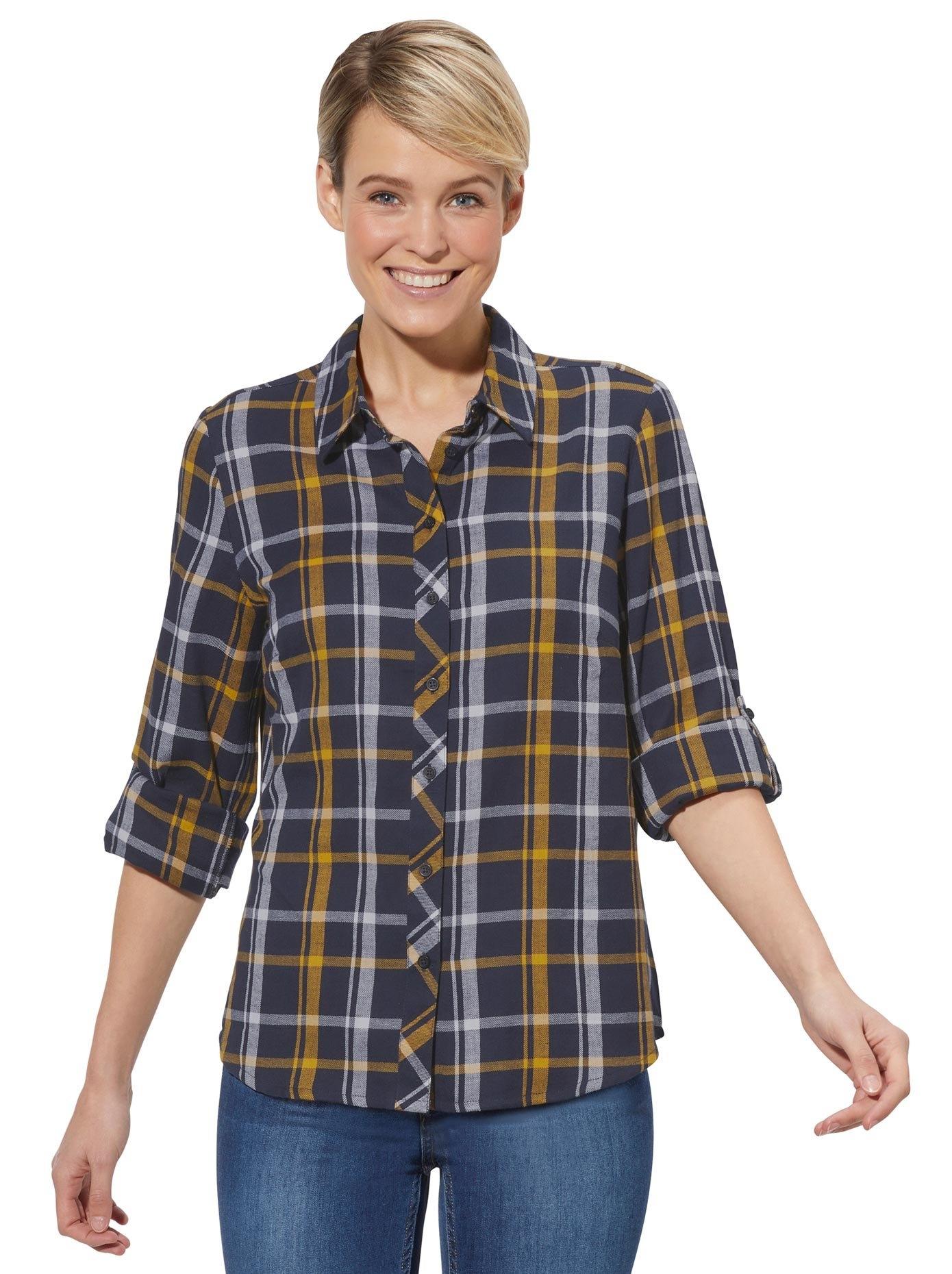 Casual Looks geruite blouse in de webshop van OTTO kopen