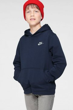 nike sportswear hoodie »boys nike sportswear hoodie club« blauw