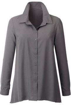 blouse met overhemdkraag grijs
