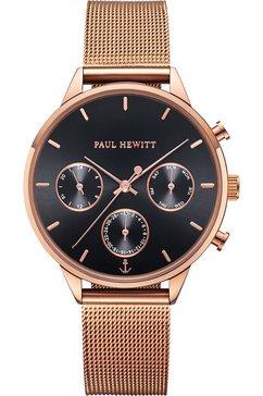 paul hewitt multifunctioneel horloge everpulse black sunray rozegoud mesh, ph002812 goud