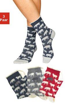 sympatico sokken met fijne schelpenrand (3 paar) blauw