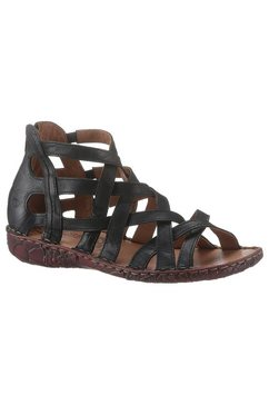 josef seibel romeinse sandalen rosalie met hielrits zwart
