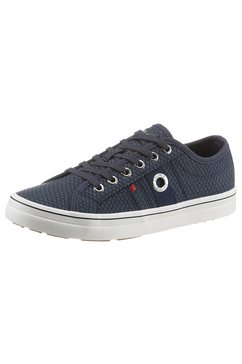 s.oliver plateausneakers snake in trendy reptielmotief blauw
