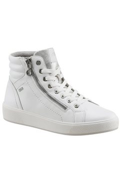 s.oliver plateausneakers met decoratieve stiksels wit